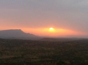 Sunset over Mt Gillen
