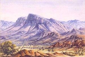 Albert Namatjira's Haasts Bluff c.1956
