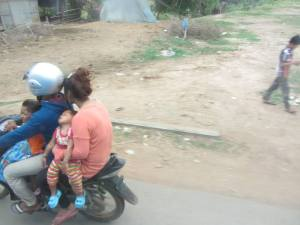 I did!  Baby asleep on the highway outside Kampong Cham.