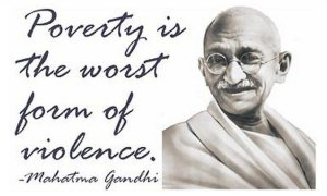 Ghandi poverty