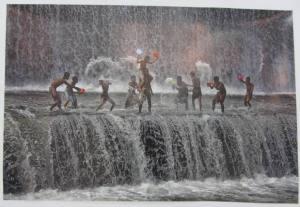 Children on Waterfall, Bali Indonesia 2013, by Pimpin Nagawan