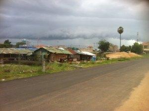 New shanty town, Mekong embankment Kampong Cham