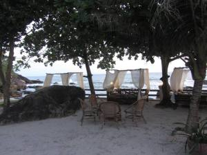 Our beautiful private beach space