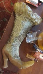 My golden Christmas stocking!!