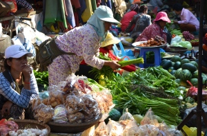 Vegetables at Kratie Market