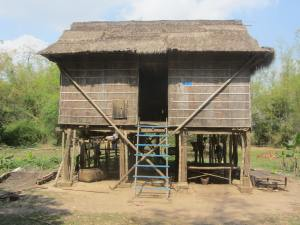 Three adults and two children live in this overly-humble but typical Cambodian abode.  Upon return in August/September I probably won't be able to visit due to the high floodwaters.