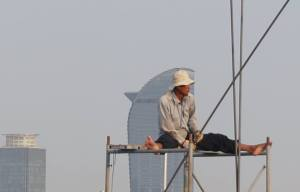 Phnom Penh Construction Worker