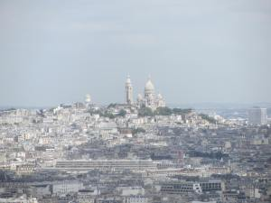 Sacre Couer as seen from the Eiffel Tower on Monday