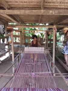 Krama weaving at a silk village in Tboung Khmum Province, last year