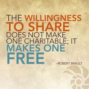 Sharing makes us free