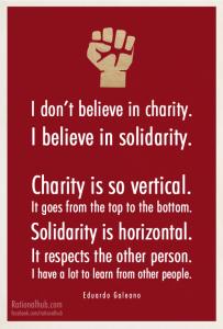 Charity vs Solidarity