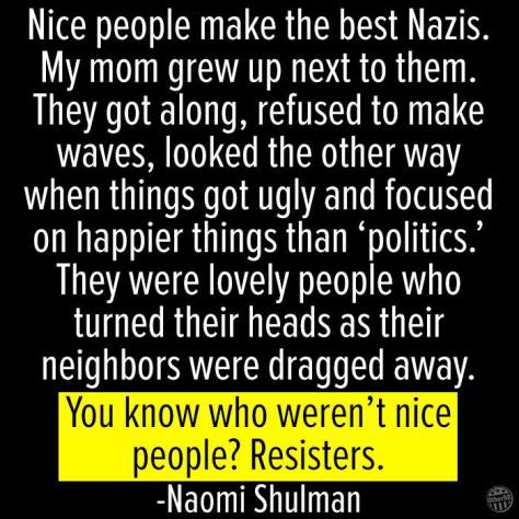 Nice people and the Nazis